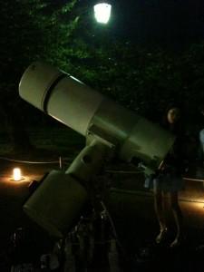 中秋節の望遠鏡