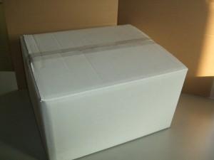 段ボールのアウトレット!白W 370x310x205 100円