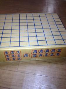 段ボールでできた将棋盤