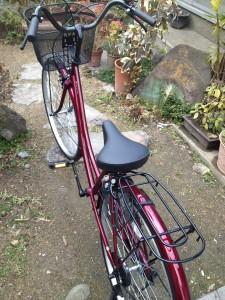 当たった自転車!