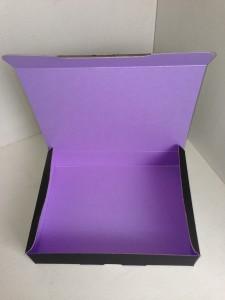 黒x紫 カラー段ボール