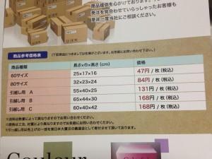 カタログの価格変更