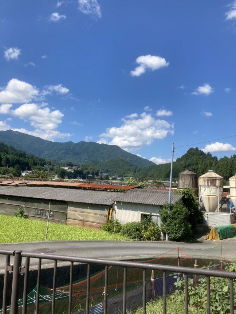 兵庫県宍粟市千種 鶏舎と田んぼ
